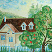 House In The Village Art Print
