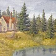 House In The Woods 2  Art Print