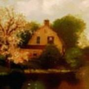House Near The River. L B Art Print