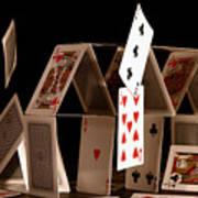 House Of Cards Art Print by Jan Piller