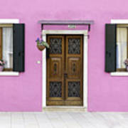 House Of Venice - Pink Art Print