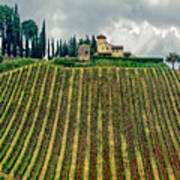 House On A Hill-tuscany Art Print
