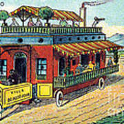 House On Wheels, 1900s French Postcard Art Print