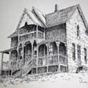 House Virginia City Montana Art Print