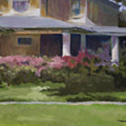 House With Azaleas Art Print