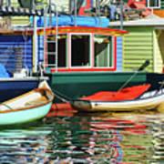 Houseboats 4 - Lake Union - Seattle Art Print