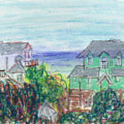 Houses At Whalehead Beach Art Print