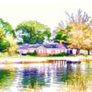 Houses By The Lake 1 Art Print