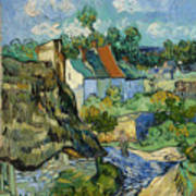 Houses In Auvers Art Print