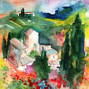 Houses In Montepulciano In Tuscany 01 Art Print