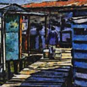 Houses In Sinamaica Lake - Venezuela Art Print