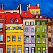 Houses In The Oldtown Of Warsaw Art Print