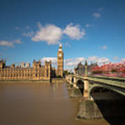 Houses Of Parliament And Westminster Bridge Art Print