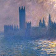 Houses Of Parliament - Sunlight Effect Art Print