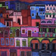 Houses Of San Miguel 2 Art Print