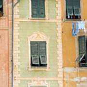 Houses, Portofino, Italy Art Print