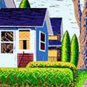 Houses Remastered Art Print