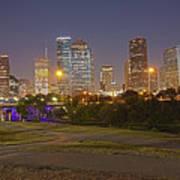 Houston Cityscape1 Art Print