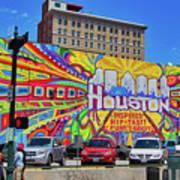 Houston, Inspired, Hip, Tasty, Funky, Savvy Art Print