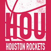 Houston Rockets City Poster Art Art Print