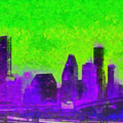 Houston Skyline 43 - Pa Art Print