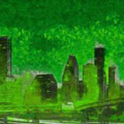 Houston Skyline 51 - Pa Art Print
