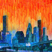 Houston Skyline 81 - Pa Art Print