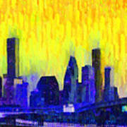 Houston Skyline 83 - Pa Art Print