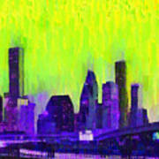 Houston Skyline 84 - Pa Art Print