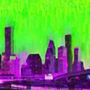 Houston Skyline 85 - Pa Art Print