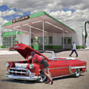 Over Heating At The Sinclair Station Art Print