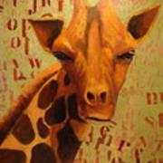 How Do You Spell Giraffe? Art Print