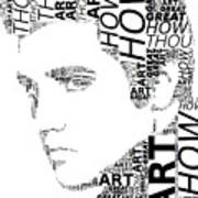 How Great Thou Art Elvis Wordart Art Print