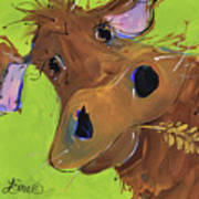 How Now Brown Cow Art Print