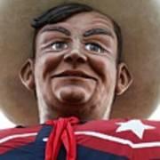 Howdy Folks - Big Tex Portrait 02 Art Print