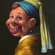 Howdy With A Pearl Earring Art Print