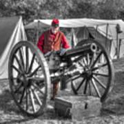 Howitzer Battle Of Honey Springs V5 Art Print