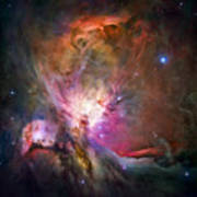Hubble's Sharpest View Of The Orion Nebula Art Print