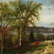 Hudson River At Croton Point Art Print