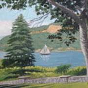 Hudson River Schooner Art Print