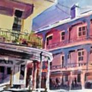 Hues Of The French Quarter Art Print