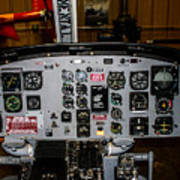 Huey Instrument Panel Art Print