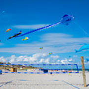 Huge Kites Delray Beach Art Print