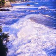 Huge Wave In Ligurian Sea Art Print