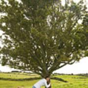 Hugging The Fairy Tree In Ireland Art Print