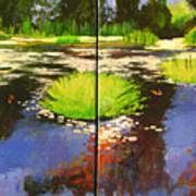 Hughes Water Garden Art Print