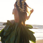 Hula At Sunrise Art Print