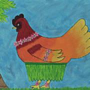 Hula Hen Art Print