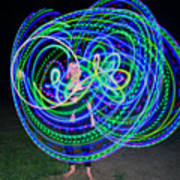 Hula Hoop In Light Art Print