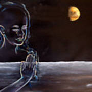 Human Spirit Moonscape Art Print